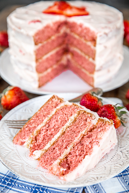 Homemade Strawberry Layer Cake Recipe